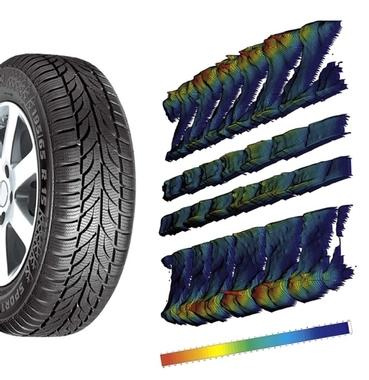 Messung an (Fahrzeug-) Reifen